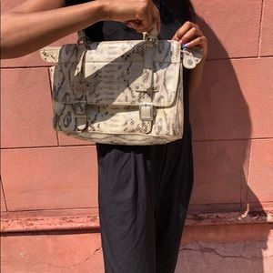 Handbags - PETA approved faux snake Skin shoulder bag